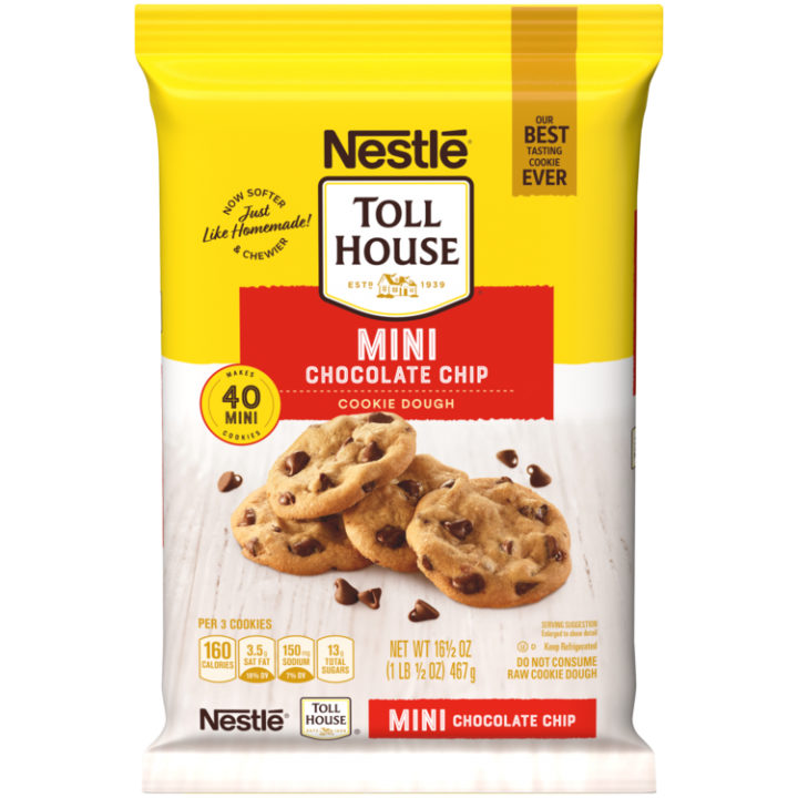 Mini Chocolate Chip Refrigerated Cookie Dough | NESTLÉ® TOLL HOUSE®
