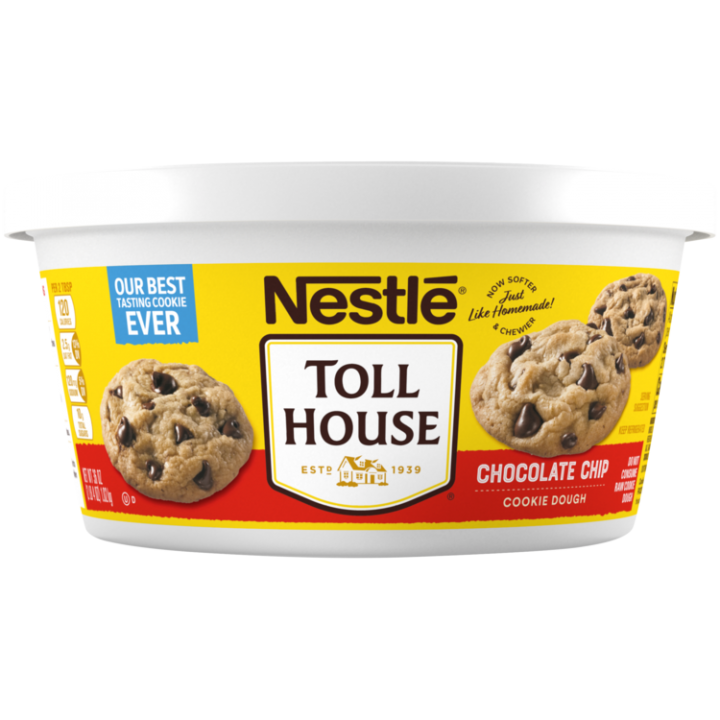 Refrigerated Chocolate Chip Cookie Dough Tub Nestle Toll House
