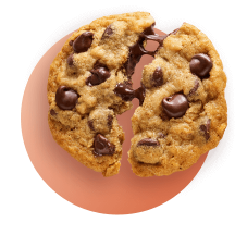 Split apart Chocolate Chip Cookie