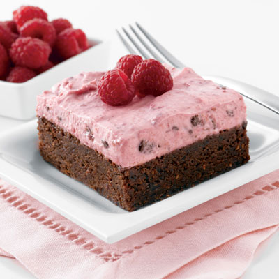 Chocolate Raspberry Brownie Mousse Delight