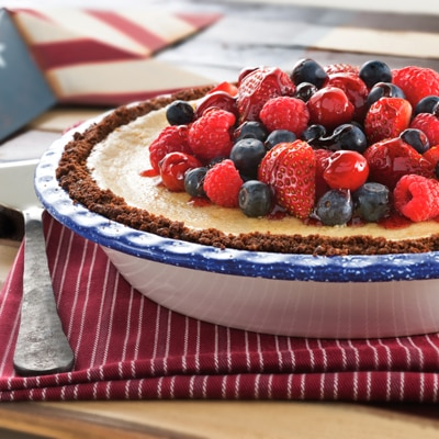 Cherry Berry Cheesecake Pie