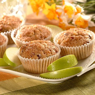 Apple-Cranberry Wheat Muffins