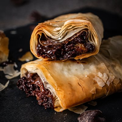 Artisan Chocolate Banana Strudel